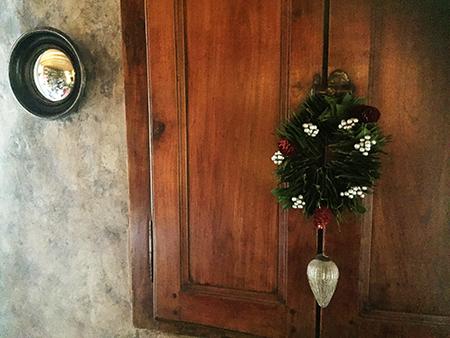 Les portes du potager (de la maison) en cerisier
