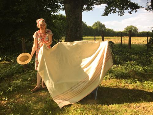 Marleen Booy en haar blauwe bankje |La Grosse Talle |2018 |Foto: Beer Bergman